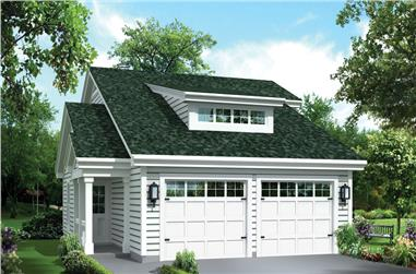 1-Bedroom, 1086 Sq Ft Garage w/Apartments Home Plan - 138-1274 - Main Exterior