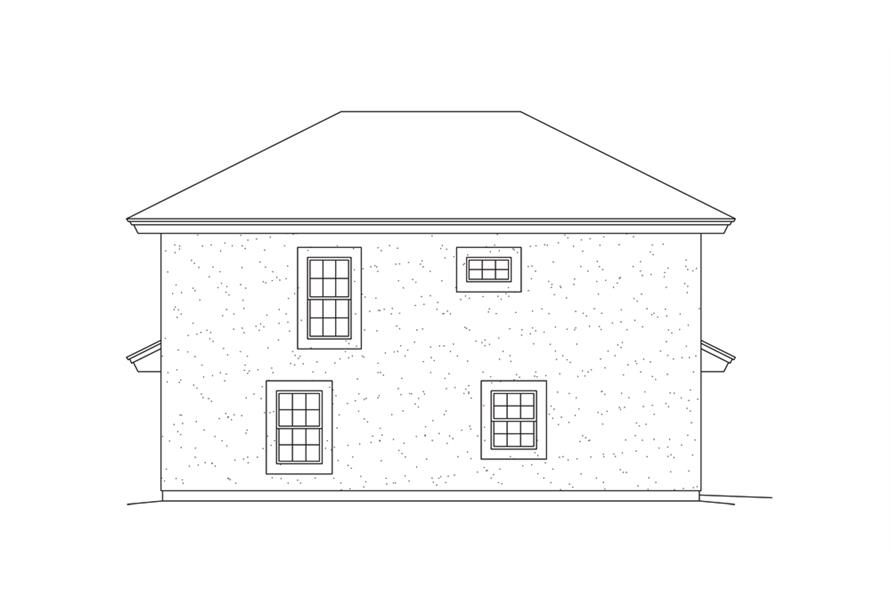 138-1275: Home Plan Left Elevation