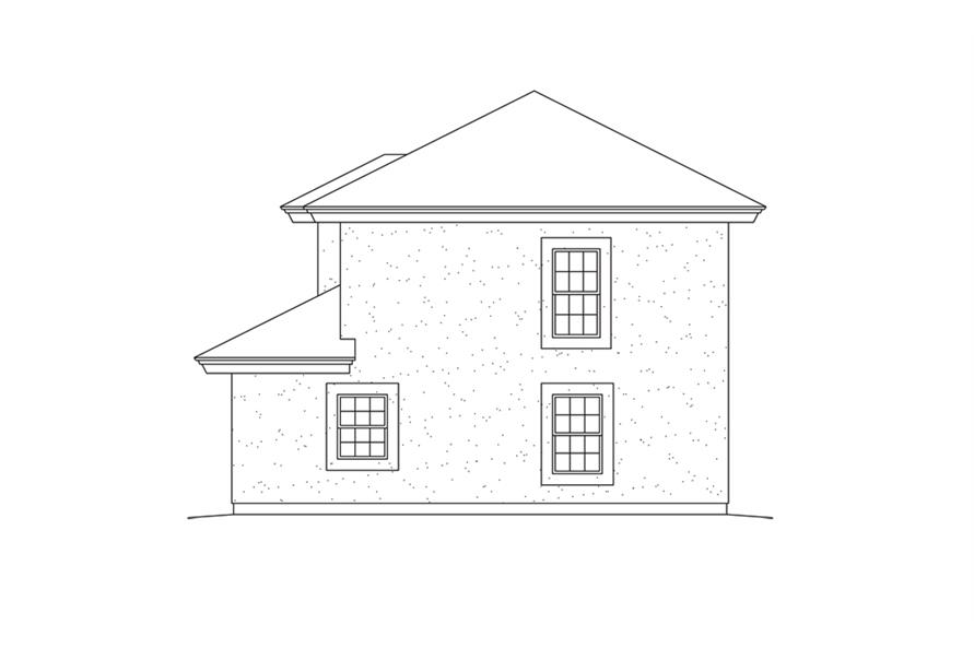 138-1275: Home Plan Rear Elevation