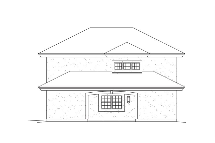 Home Plan Right Elevation of this 1-Bedroom,1091 Sq Ft Plan -138-1275