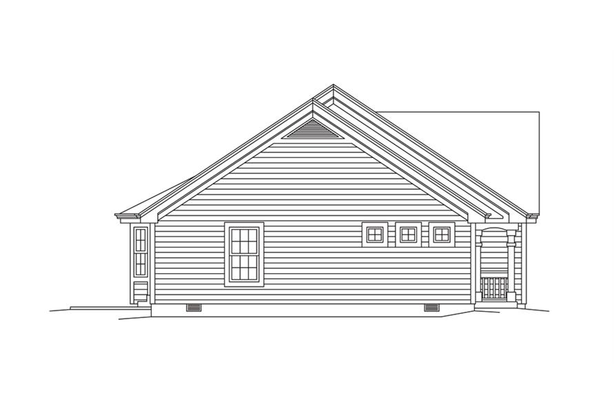 Home Plan Left Elevation of this 2-Bedroom,1618 Sq Ft Plan -138-1276