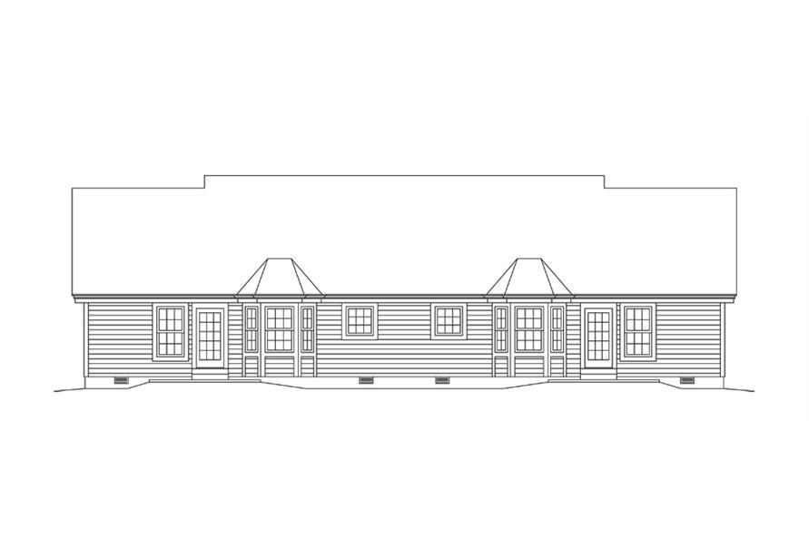 138-1276: Home Plan Rear Elevation
