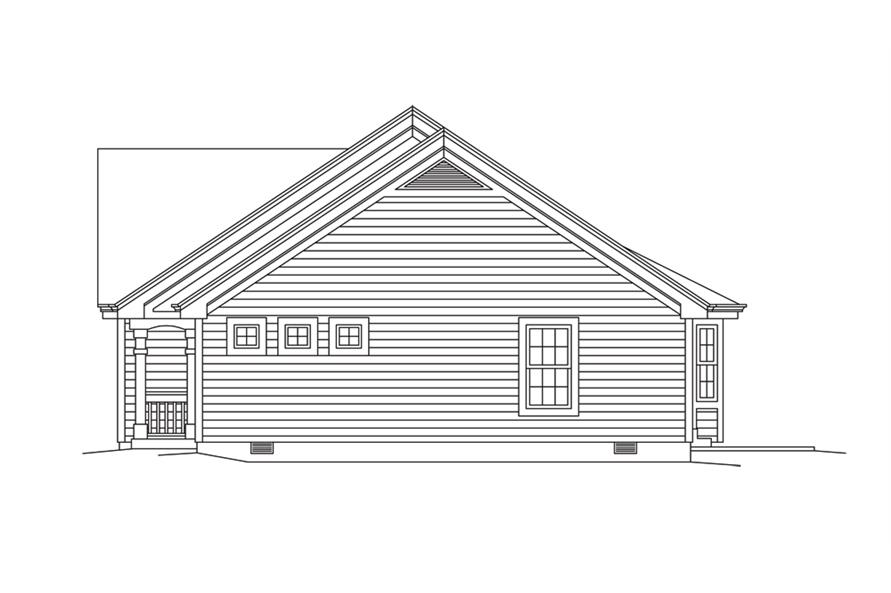 Home Plan Right Elevation of this 2-Bedroom,1618 Sq Ft Plan -138-1276