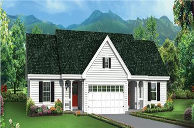 2-Bedroom, 1618 Sq Ft Multi-Unit House Plan - 138-1276 - Front Exterior