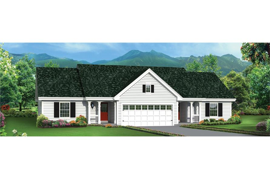 Front elevation of Multi-Unit home (ThePlanCollection: House Plan #138-1276)