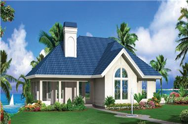 Front elevation of Ranch home (ThePlanCollection: House Plan #138-1277)