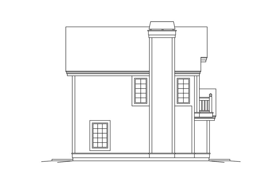 Home Plan Left Elevation of this 1-Bedroom,1028 Sq Ft Plan -138-1278