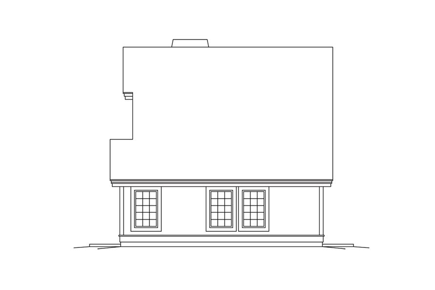 Home Plan Right Elevation of this 1-Bedroom,1028 Sq Ft Plan -138-1278