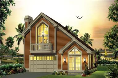 1-Bedroom, 1028 Sq Ft Garage w/Apartments House Plan - 138-1278 - Front Exterior