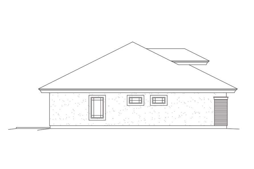 138-1279: Home Plan Left Elevation
