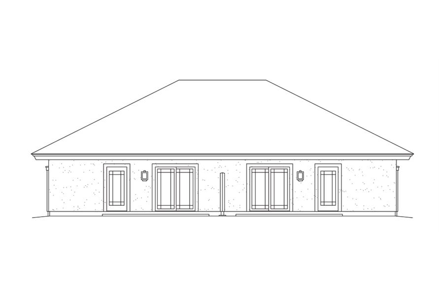 138-1279: Home Plan Rear Elevation