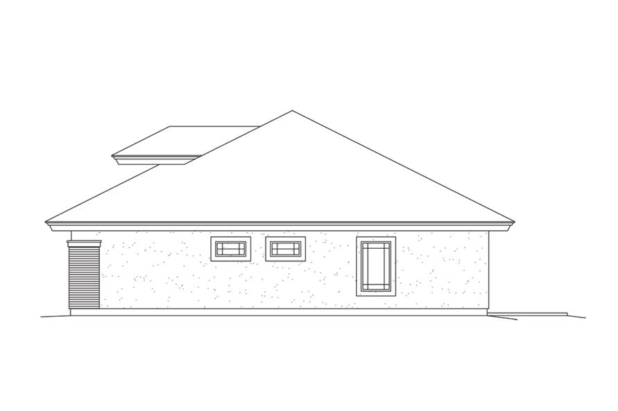 138-1279: Home Plan Right Elevation