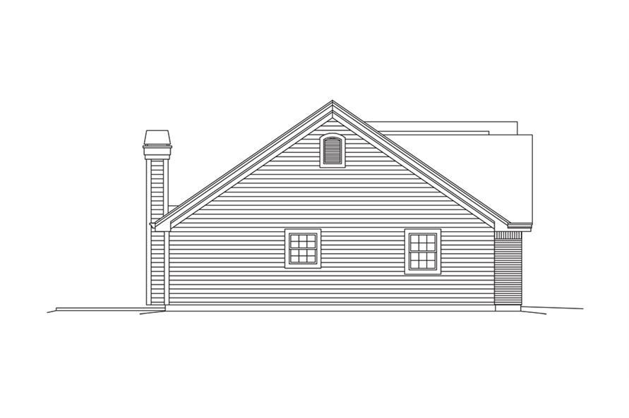 138-1282: Home Plan Left Elevation