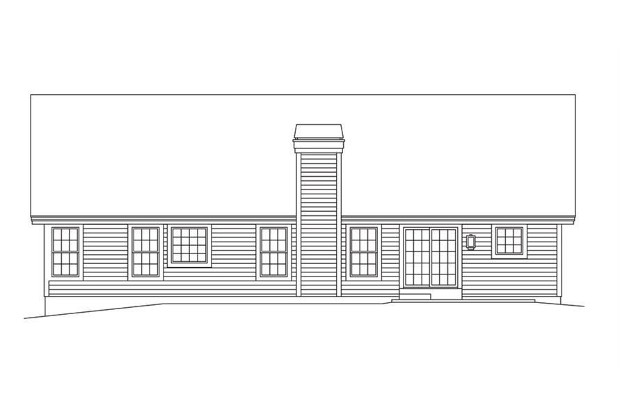 138-1282: Home Plan Rear Elevation