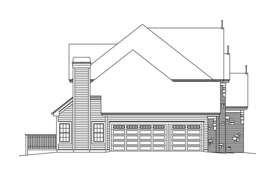 138-1283: Home Plan Left Elevation