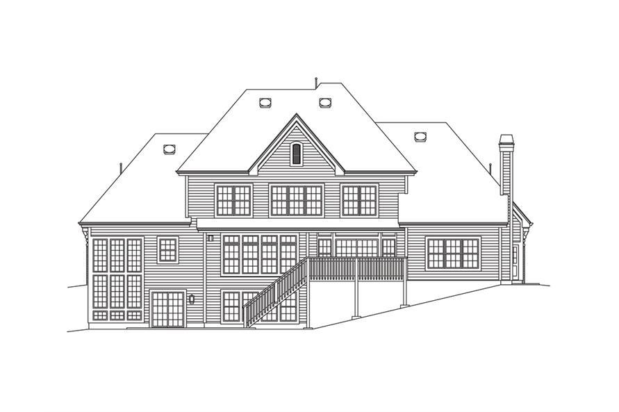 138-1283: Home Plan Rear Elevation