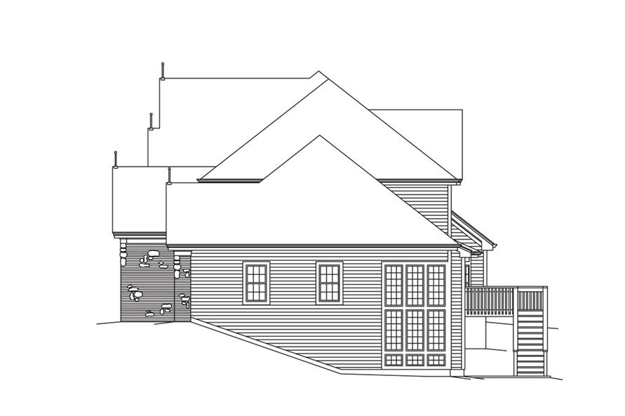 138-1283: Home Plan Right Elevation