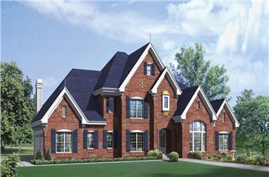 4-Bedroom, 4465 Sq Ft European Home Plan - 138-1283 - Main Exterior