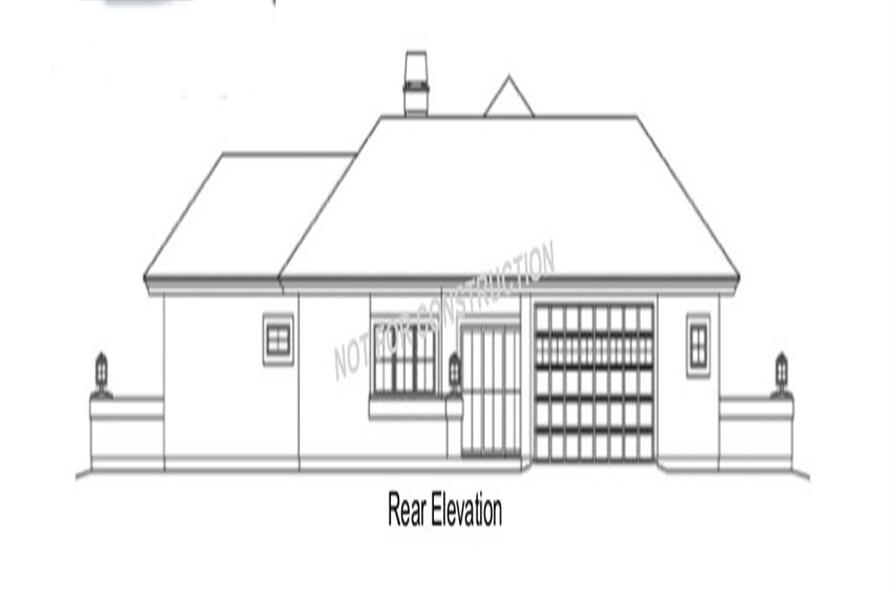 138-1284: Home Plan Rear Elevation