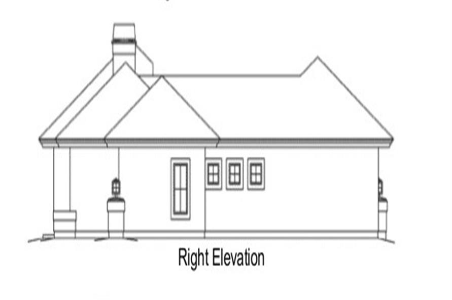 138-1284: Home Plan Right Elevation