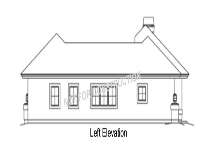 138-1284: Home Plan Left Elevation