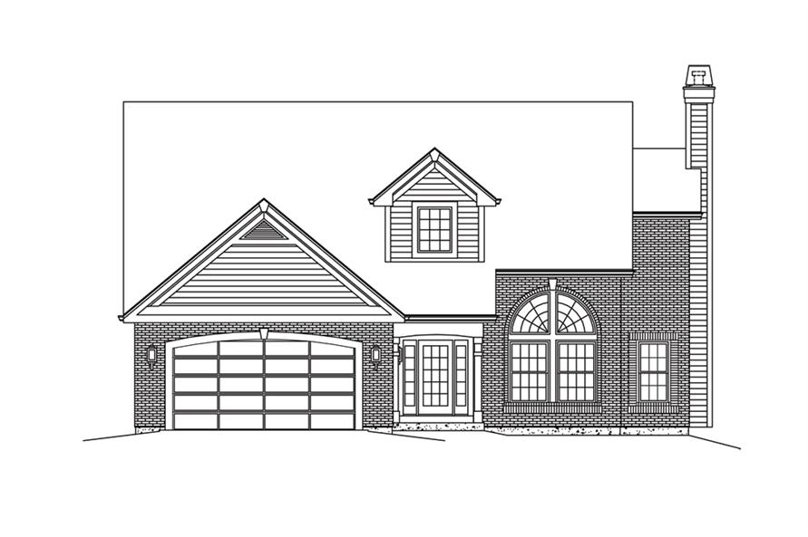 138-1285: Home Plan Front Elevation