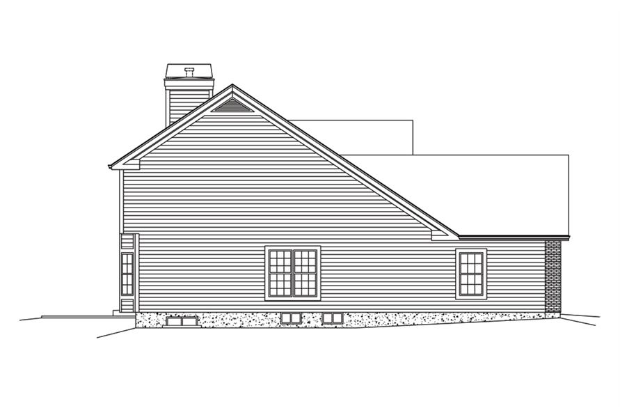 Home Plan Left Elevation of this 3-Bedroom,2360 Sq Ft Plan -138-1285