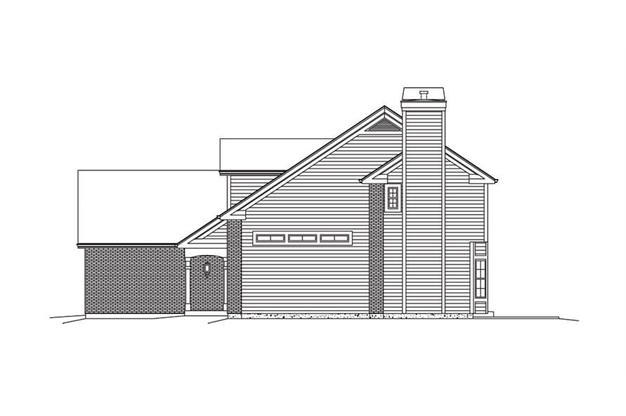 Home Plan Right Elevation of this 3-Bedroom,2360 Sq Ft Plan -138-1285