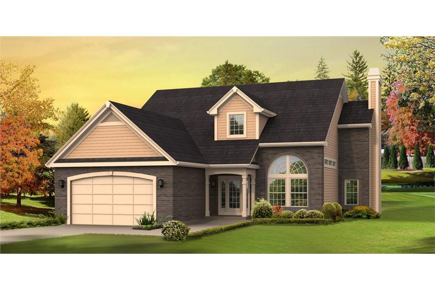 Front elevation of Traditional home (ThePlanCollection: House Plan #138-1285)