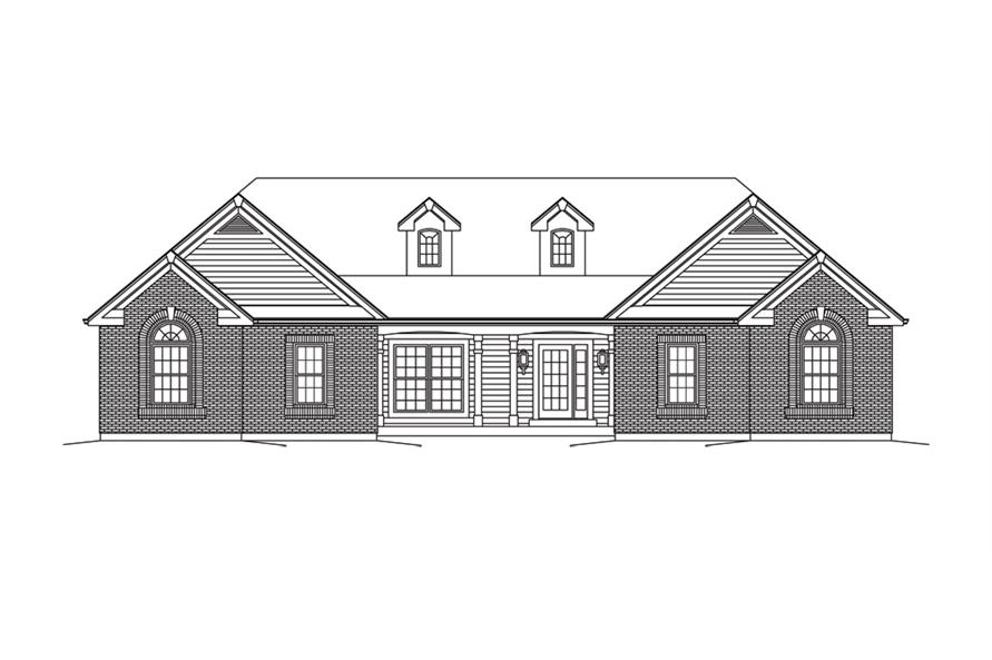 138-1286: Home Plan Front Elevation