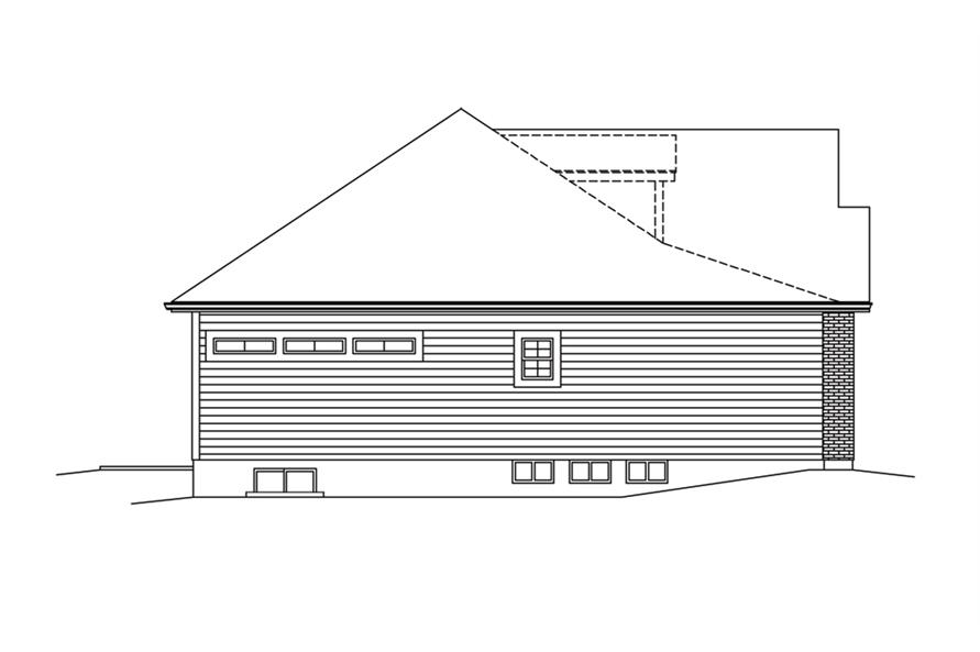 138-1286: Home Plan Left Elevation