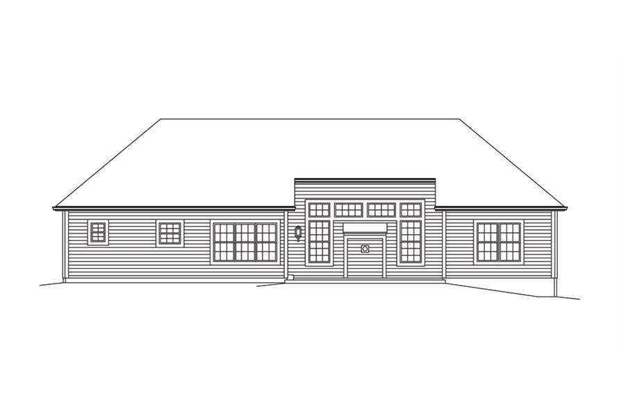 138-1286: Home Plan Rear Elevation