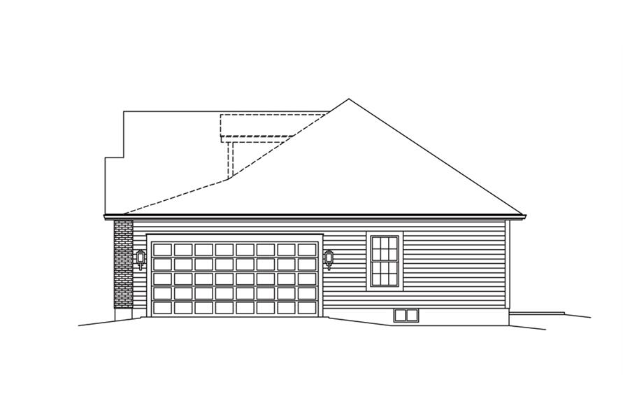 138-1286: Home Plan Right Elevation