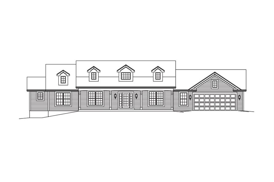 138-1287: Home Plan Front Elevation