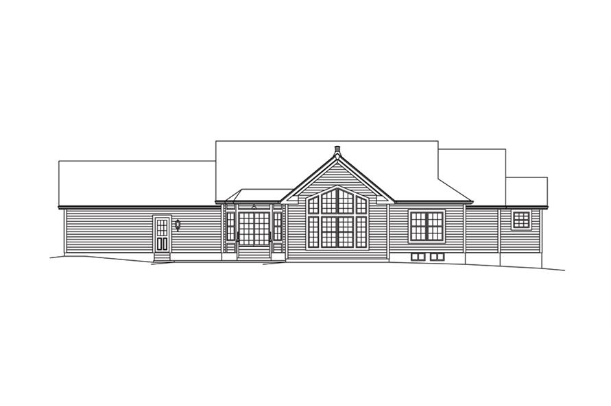 138-1287: Home Plan Rear Elevation