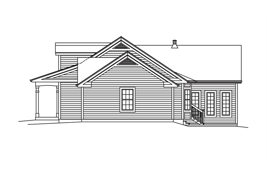 138-1287: Home Plan Right Elevation
