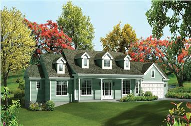 3-Bedroom, 2215 Sq Ft Ranch House Plan - 138-1287 - Front Exterior