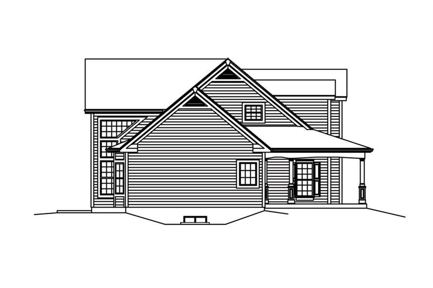 138-1288: Home Plan Left Elevation