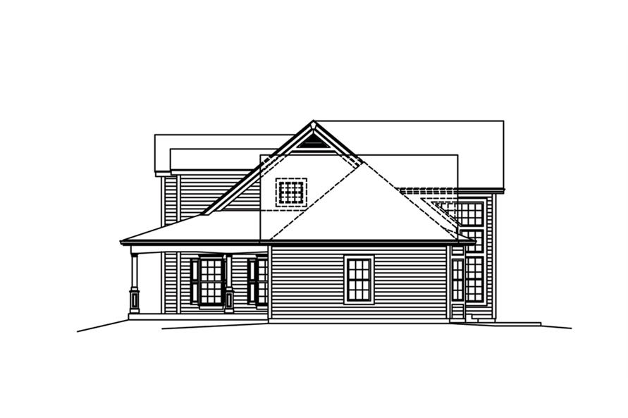 138-1288: Home Plan Right Elevation