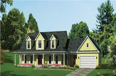 4-Bedroom, 3782 Sq Ft Ranch House Plan - 138-1288 - Front Exterior