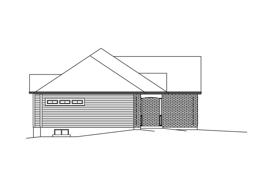 138-1289: Home Plan Left Elevation