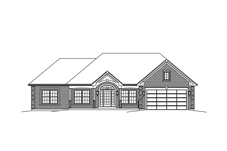 138-1289: Home Plan Front Elevation