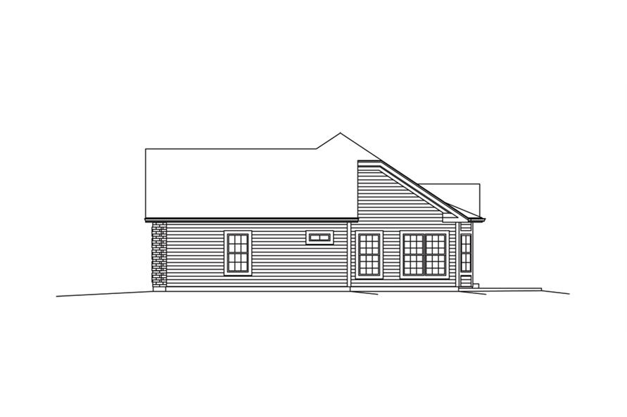 138-1289: Home Plan Right Elevation