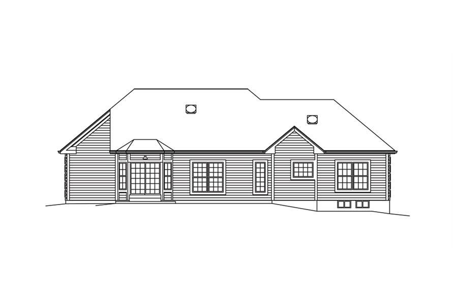 138-1289: Home Plan Rear Elevation