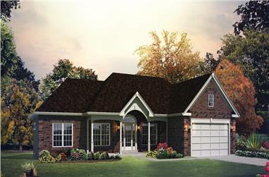 3-Bedroom, 1562 Sq Ft Traditional Home Plan - 138-1289 - Main Exterior
