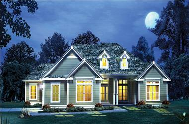 4-Bedroom, 2241 Sq Ft Country Home Plan - 138-1290 - Main Exterior
