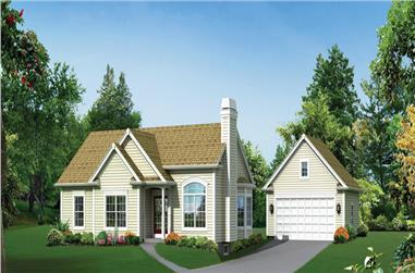 3-Bedroom, 1308 Sq Ft Country Home Plan - 138-1291 - Main Exterior