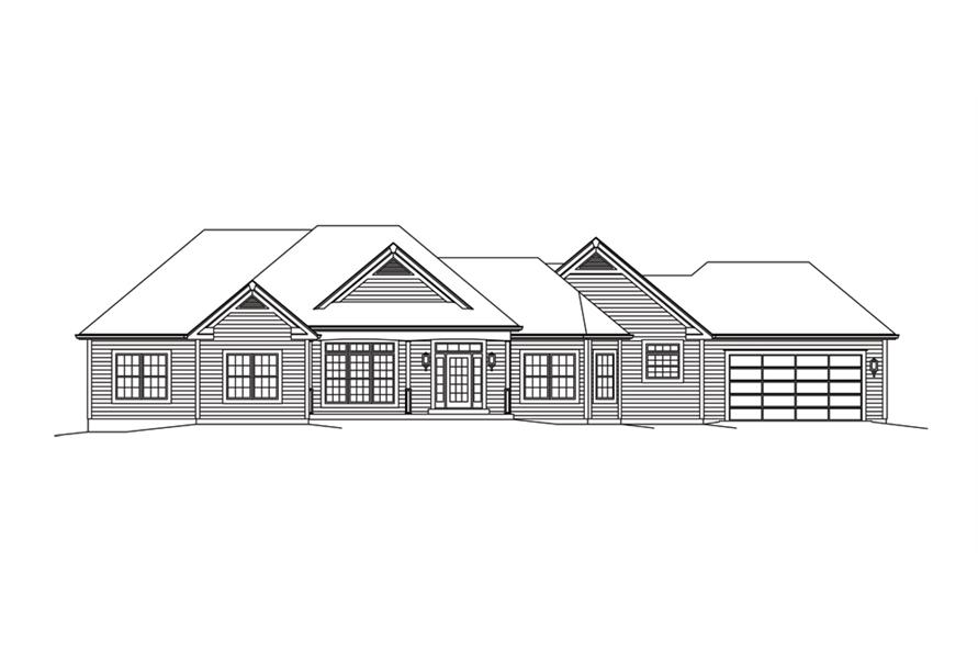 138-1292: Home Plan Front Elevation