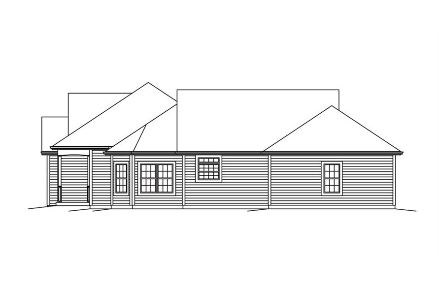 138-1292: Home Plan Right Elevation