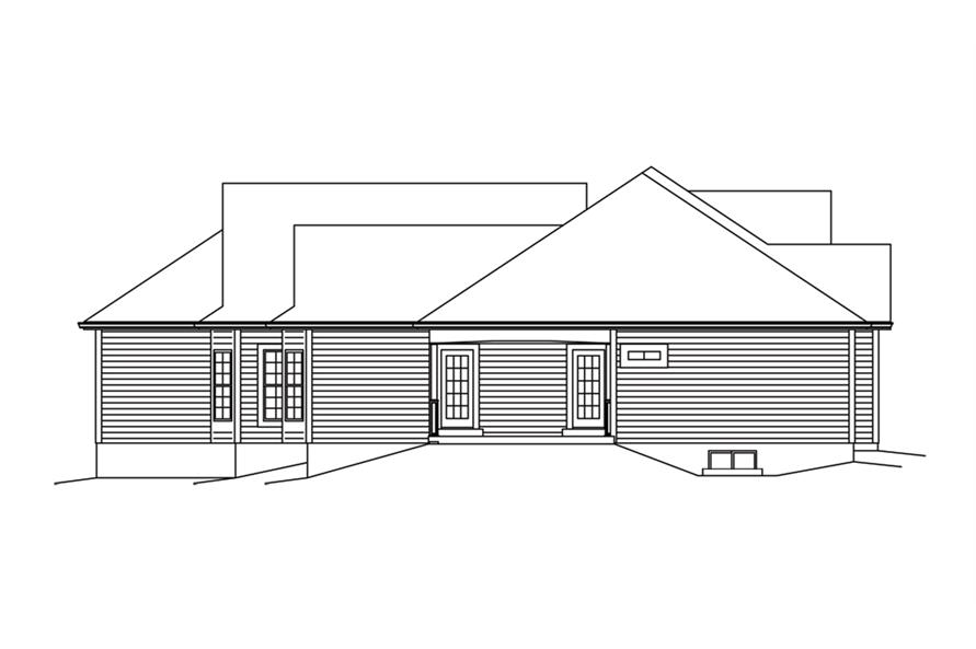 138-1292: Home Plan Left Elevation